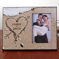 Heart in Sand Personalized Picture Frame