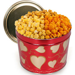 Valentine's Day Hearts 2 Gallon Popcorn Tin
