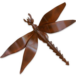 Exotic Dragonfly Iron Wall Sculpture