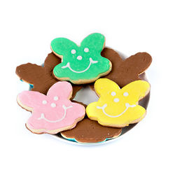 16 Bunny Smiley Cookies Dipped in Milk Chocolate