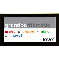 Personalized Grandpa Exponential Love Framed Print