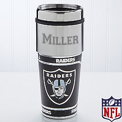 Oakland Raiders Personalized Travel Mug