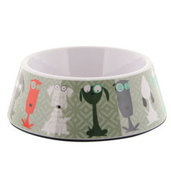 Melamine Dog Design Bowl
