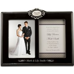 Mr. and Mrs. Double 5x7 Photo Frame