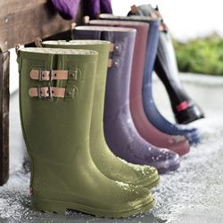 Women's Solid Waterproof Rain Boots