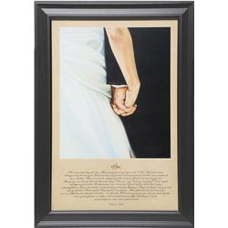 I Do Bride and Groom Framed Print