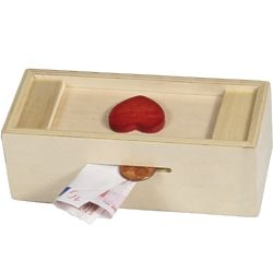 Red Heart Money Puzzle Box