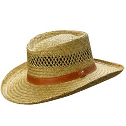 Casual Rush Straw Gambler Hat
