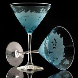 The Sea Martini Glasses
