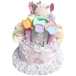Noah's Ark 2-Tier Baby Diaper Cake