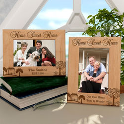 Personalized Home Sweet Home Wooden Picture Frame