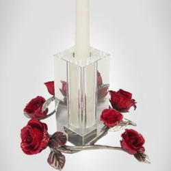 Antiqued Pewter Candle Holder