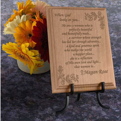Personalized Survivor Wooden Plaque