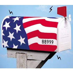 American Flag Mail Box Cover