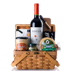 Wine and Cheese Picnic Gift Basket