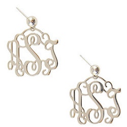 Personalized Small Filigree Earrings