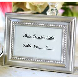 Beaded Photo Frame and Placeholder Wedding Favors
