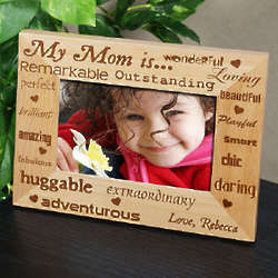 Magnificent Mom Personalized Wood Photo Frame