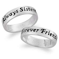 Sterling Silver Sisters Sentiment Ring
