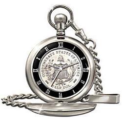 Civil War 150th Anniversary Confederate Half Dollar Pocket Watch
