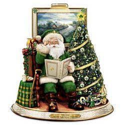 Irish Night Before Christmas Talking Santa Figurine