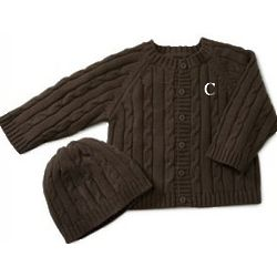 Baby Cable Knit Sweater and Hat Set