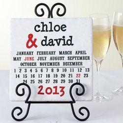 Wedding Date Personalized Love Calendar