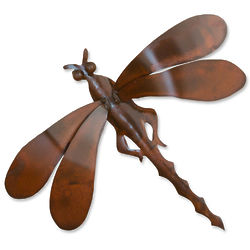 Summer Dragonfly Iron Wall Sculpture