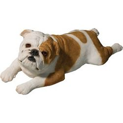 Fawn Bulldog Lying Down Figurine