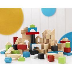 100 Piece Wooden Block Toy Set