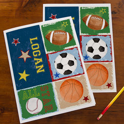 Ready, Set, Score Personalized Sports Folders