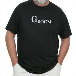 Groom's Black T-Shirt