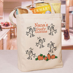 Goofy Goblins Personalized Halloween Tote Bag