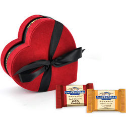 Heart Gift Box with Squares Chocolates