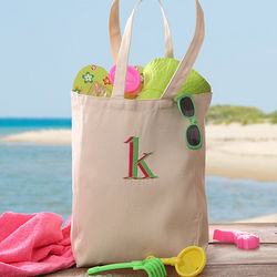 Go Everywhere Kid's Embroidered Canvas Tote