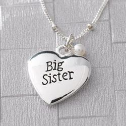 Sterling Silver Big Sister Necklace