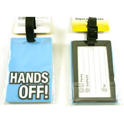 Hands Off Luggage Tags and ID Card with Attitude