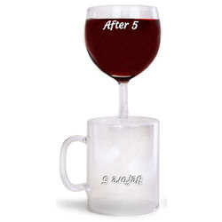 Before and After 5 Coffee Mug and Wine Glass