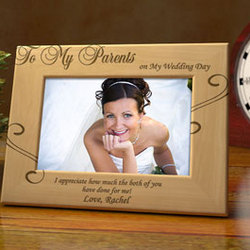 Personalized To My Parents Wooden Picture Frame