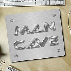 Floating Steel Man Cave Mousepad