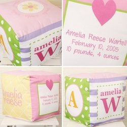 Personalized Primary Baby Block