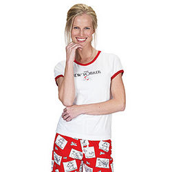 The New Yorker Romantic Cartoon Pajamas for Women