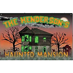Personalized Haunted Mansion Wood Sign