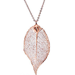 Women's Rose Leaf Necklace