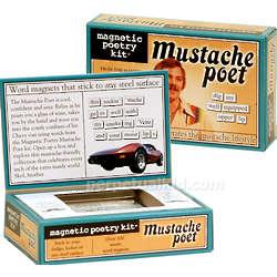 Mustache Poet Magnetic Poetry Kit