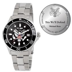 Mens US Army Honor Stainless Steel Watch
