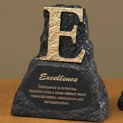 Excellence Power Rock Paperweight