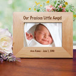 Personalized Little Angel Wood Picture Frame