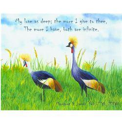 Field Birds Personalized Art Print
