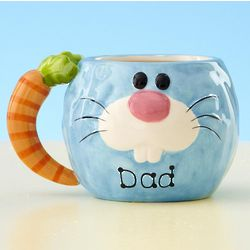 Blue Personalized Bunny Mug